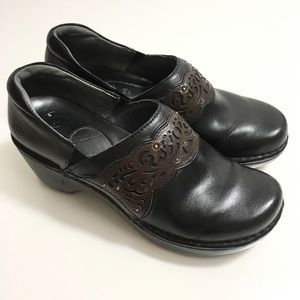 Ariat Clogs Tambour 11 B Black Die Cut Leather
